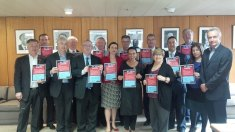 With a number of NSW Labor Caucus colleagues who have also signed the pledge to protect ageing, disability and home care services in NSW.