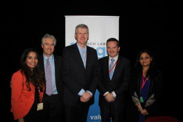 NSW Labor fringe event on small business with Tony Burke MP and Chris Bowen MP.