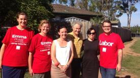 Supporting Labor MP, Emma Husar.