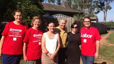 Supporting Labor MP, Emma Husar.