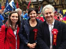 Sydney May Day rally with Courtney Houssos MLC and Jodi McKay MP