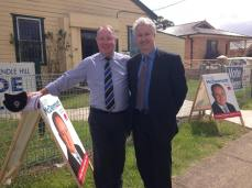 With Prospect MP, Hugh McDermott