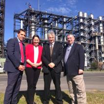 Manildra power plant at Bomaderry with Shadow Ministerial colleagues Peter Primrose and Ryan Park, and South Coast Labor's Fiona Phillips.