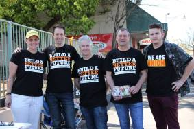 Campaigning for penalty rates, workers' rights, local jobs, Medicare, and higher education in the lower Blue Mountains.