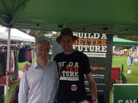 Australia Day 2016, in Glenbrook speaking with the grassroots community volunteers working in the ACTU campaign in the federal electorate of Macquarie.