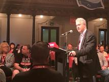 "NSW Labor StateConference 2016: Adam addressed the NSW ALP State Conference in the ""Prosperity At Work"" debate, reaffirming the NSW Parliamentary Party's support for measures to address gender inequality in the workplace - whether in the public or private sectors - higher standards of safety for working people, and a fair and industrial independent umpire."