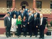 Welcoming to NSW Parliament, the visiting delegation to commemorate the 75th anniversary of the Battle of Crete - with Sophie Cotsis MLC, Courtney Houssos MLC and Steve Kamper MP.