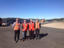 Visiting the Caltex sustainable soil regeneration facility at Kurnell with Mick Veitch MLC.