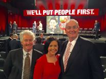 Adam Searle, Prue Car and Walt Secord at Labor's National Conference