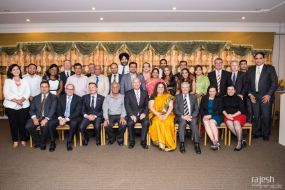 Sub Continent Friends of Labor Team in dinner with state and federal Labor MPs.