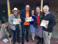 With Mark Greenhill at the local government elections with NSW General Secretary Kaila Murnain and Blue Mountains MP Trish Doyle