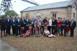 The NSW Labor shadow cabinet visit to Goat Island - known traditionally as Me-mel – to celebrate the news that Labor's policy to return the land to the Aboriginal people of NSW has been adopted.