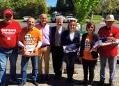 Supporting Bernard Fitzsimon at the 2016 Orange by-election.
