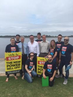 Campaigning in Ballina to stop the NSW Liberal Government's power sell-off.