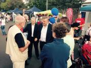 Blue Mountains campaigning with Trish Doyle and Anthony Albanese.