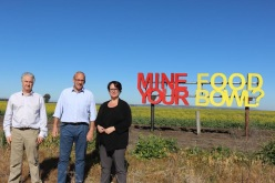 Adam Searle with Labor Leader Luke Foley and Shadow Minister for the Environment Penny Sharpe at the Liverpool Plains to demand the NSW Government cancel the Shenhua Watermark open cut mine.