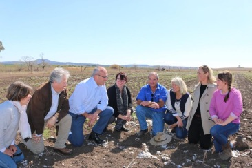 Adam Searle with Labor Leader Luke Foley and Shadow Minister for the Environment Penny Sharpe, meeting with local property owners and farmers on the Liverpool Plains near Breeza to call on the NSW Government to shut down Shenhua's Watermark open cut mine.