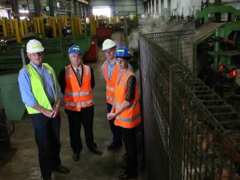As Shadow Energy Minister, Adam joined Milltech's Fred Reis, employee Dean Taylor and local MP Kate Washington to discuss the company's bill shock as energy prices soar. (Source: Newcastle Herald)