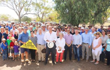 In Coonamble (Barwon) listening to local farmers and residents about the proposed Santos Narrabri CSG project near the Pillaga Forest and the associated Western Slopes pipeline which will negatively impact local communities.