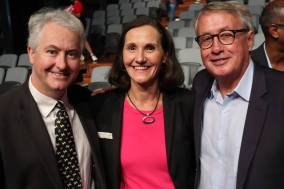 With Former Treasurer, Wayne Swan and Blue Mountains Councillor, Romola Hollywood, at the launch of NSW Labor's #SchoolsandHospitalsbeforeStadiums campaign