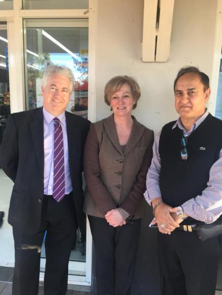 In Wollondilly with Country Labor's Jo-Ann Davidson, taking with local residents and business operators about the impact of high electricity bills as well as possible solutions.
