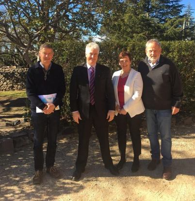 In the Southern Highlands with Ursula Stephens, meeting with Wingecarribee Council and community organisations about infrastructure planning.