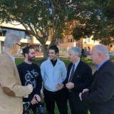 Talking to gig economy workers like Kirby about NSW Labor's policy to legislate to protect gig economy workers.