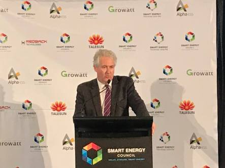 Addressing the Smart Energy Summit in Sydney on the theme of 'Helping Businesses Cut their Power Bills and Emissions with Smart Energy'.