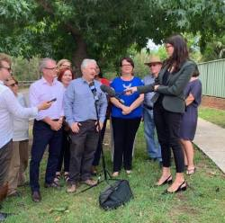At Northmead, announcing NSW Labor's Solar Homes Policy to support 500,000 households to install roof top solar and help reduce their electricity bills over the next 10 years. This program will take NSW to over a million solar homes.