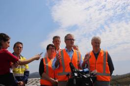 At Williamsdale Solar Farm announcing Labor's Clean Energy Plan to turbocharge the energy market in NSW. It will lead to cleaner and more secure energy, and ultimately deliver lower power prices for households.