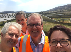 With Michael Daley and Penny Sharpe at the Williamsdale Solar Farm to announce Labor's Clean Energy Plan to turbocharge the energy market in NSW.