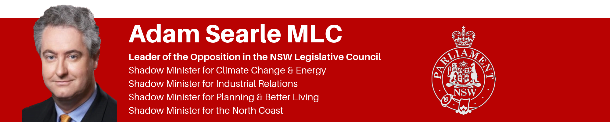 Media & Press Releases | Adam Searle MLC