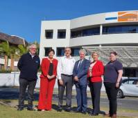 In Port Macquarie with Labor Leader Jodi McKay and Deputy Leader Yasmin Cattley, standing with Essential Energy workers under threat of losing their jobs