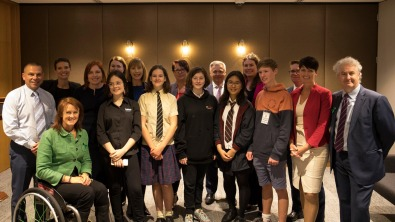 Meeting with local students from the School Strike 4 Climate group, taking part in the September 2019 global #ClimateStrike – a movement made up of young people and students across the world demanding real action on climate change.