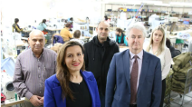 With Bankstown Labor MP Tania Mihailuk, meeting local small business owners Hassan and Tom Abdelrahim. Labor calls on the NSW Government to put NSW jobs first and support NSW businesses when procuring for government contracts.